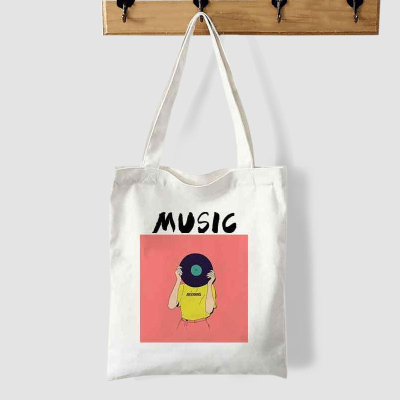 Vinyl And Music Tote Bag