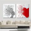 Love Abstract Music Note Canvas Art Set