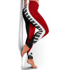 Piano Keys Red And Black Leggings