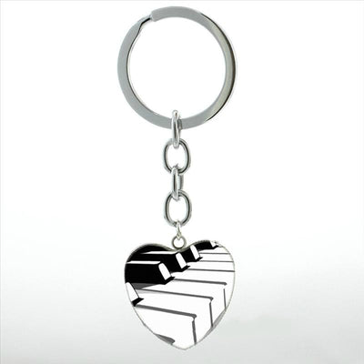 Free - Piano Heart Keychain - Artistic Pod Review