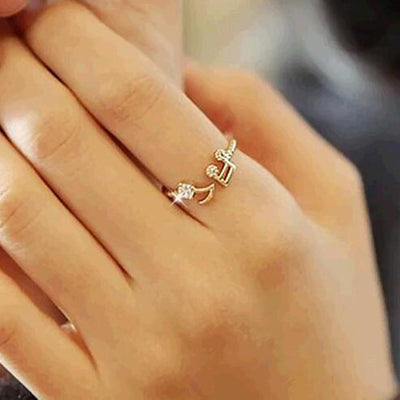 cubic diamond rhinestone rose imitation item plated steel engagement gold ring rings for women girl shining zirconia golden trendy stainless heyrock s