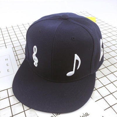 Kids Musical Notes Print Adjustable Cap