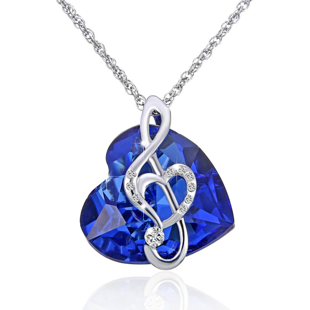 crystal babenvy screenshot flower pendant product women necklace blue
