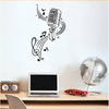 MICROPHONE Music Notes Hair bar Wall Stickers