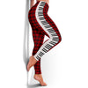 Piano Keys Red Women's Leggings