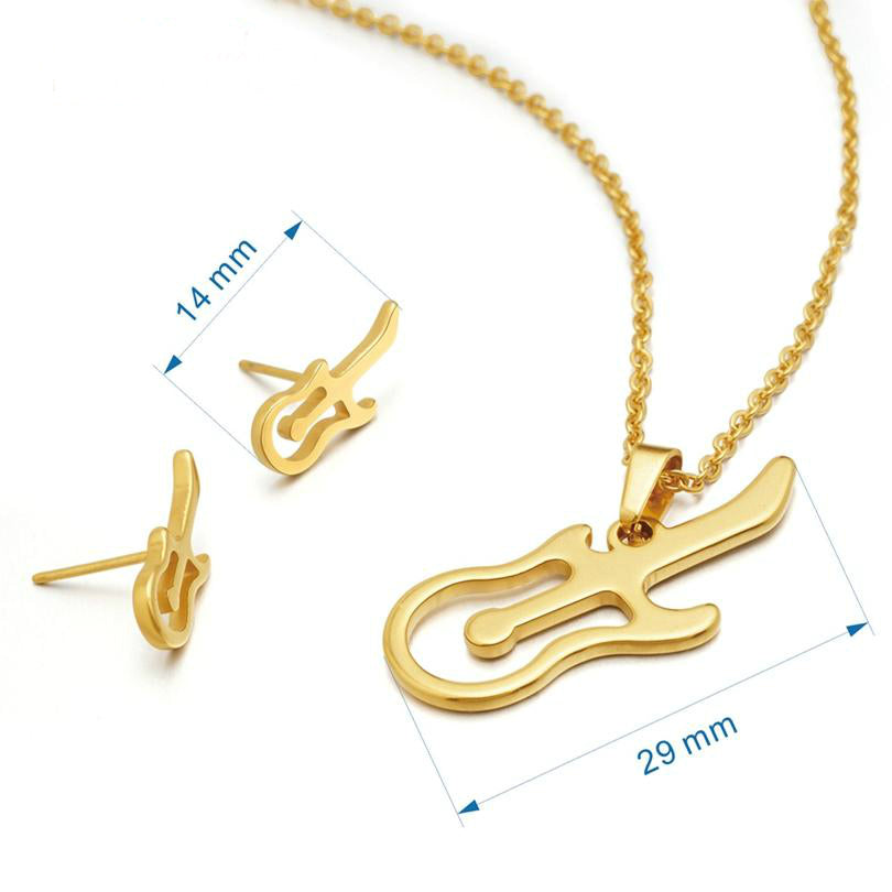 necklace tone rock click two for music men color stainless gold shop to hip titanium pendant enlarge steel jewelry guitar