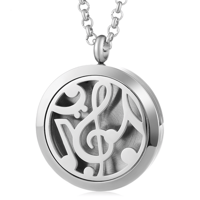 Music Note Aroma Diffuser Locket Necklace - Artistic Pod Review