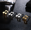 Music Notes Pendant Stud Earrings