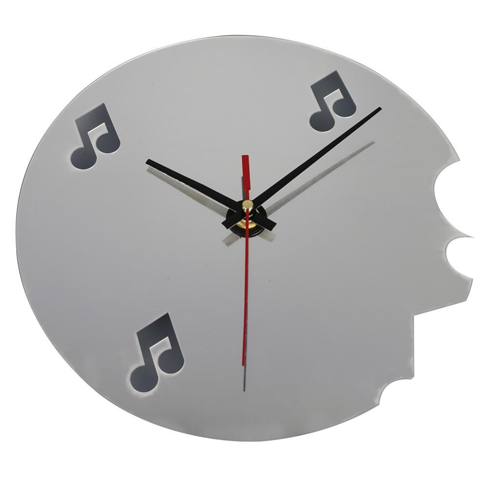 Music notes 3d wall clock mirror sticker set artistic pod music notes 3d wall clock mirror sticker set artistic pod review amipublicfo Images