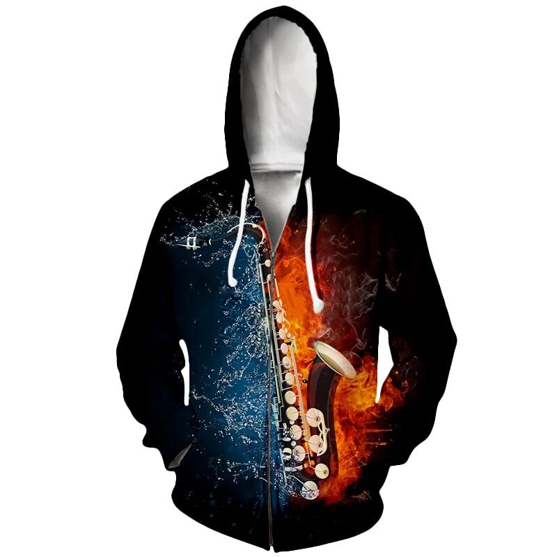 The Saxophone is Always Right Men/'s Hoodie Sweat Shirt Pick Size Small-5XL