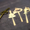 Music note book mark Gold plated