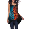 Water/Fire Music Notes Tank Top