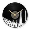 Modern Music Piano Keys Wall Clock