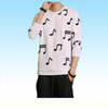 Music Note White Sweatshirt