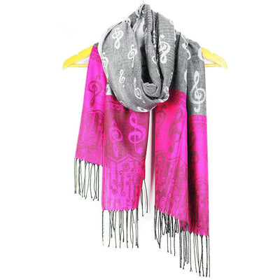 Multi Colors Music Note G-Clefs Scarf - Artistic Pod Review