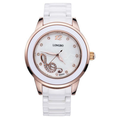 Luxury Ceramic Quartz Waterproof Music Watch