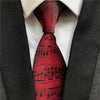 Blue/Red Music Notes Necktie