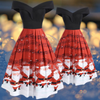 Santa Claus Music Off-Shoulder Dress
