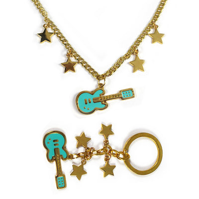 Guitar Pendant Necklace & Keychain