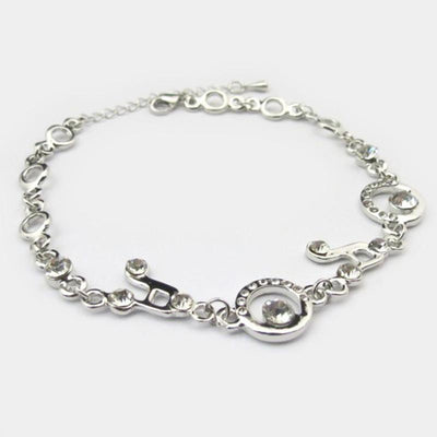 Crystal Charm Bracelets Music Note Link - Artistic Pod Review