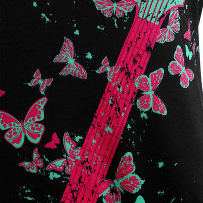 Guitar Butterfly Sexy Blouse