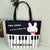 Piano Keys & Rabbit Tote Bag