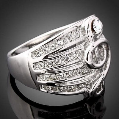 Rhinestone Treble Ring