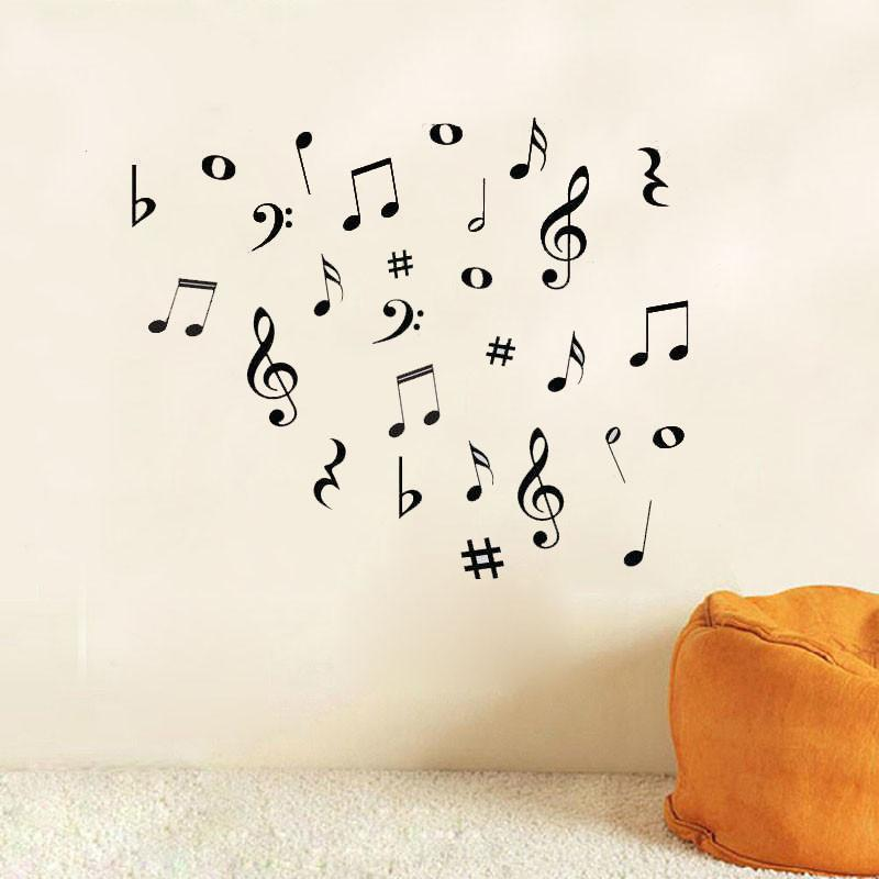Musical Notes Wall Stickers - Artistic Pod