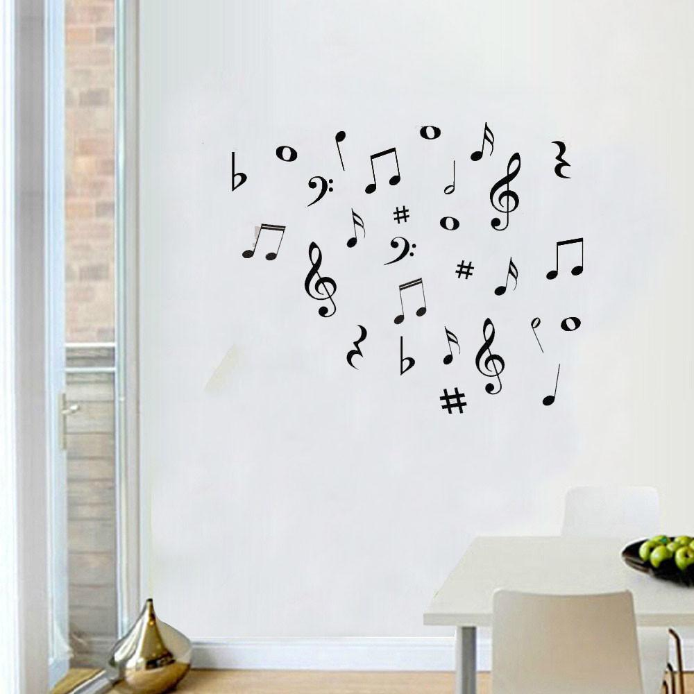 musical notes wall stickers artistic pod theme pattern style solid specification single piece package classification for wall pattern plane wall sticker size 40cm 56cm