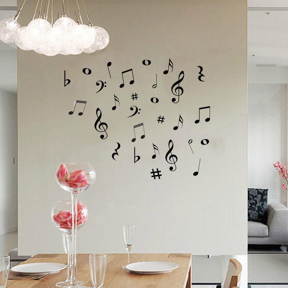free musical notes wall stickers artistic pod