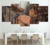 5 pieces Vintage Drum Set Canvas Art - Artistic Pod Review