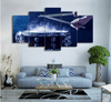 5 Pieces Sapphire Drum Canvas Art - Artistic Pod Review