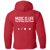 MUSIC IS LIFE Pullover Hoodie