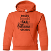 Where Words Fail Music Speaks Youth Hoodie
