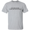 Country Music Made Me Find Myself Ultra Cotton T-Shirt - Artistic Pod Review