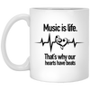 """Music Is Life"" Mug - Artistic Pod Review"