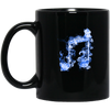 Blue Fire Two Eighth Note Mug