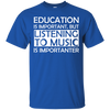 Education is Important, but Listening to Music is Importanter T-Shirt - Artistic Pod Review