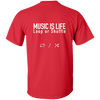 MUSIC IS LIFE Loop or Shuffle Ultra Cotton T-Shirt