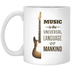 Guitar - Music Is The Universal Language Mug