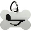 Pixel Note Dog Bone Pet Tag