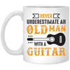 Never Underestimate An Old Man With Guitar Mug