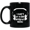 Can't Go a Day Without Music (2)11 oz. Black Mug - Artistic Pod Review