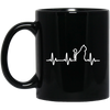 Music Heart Beat Cat Mug