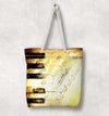 Vintage Piano Music Notes Tote Bag