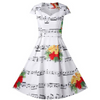 Christmas Bell Music Note Dress
