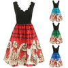 Christmas Cats Musical Notes Dress
