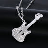 Crystal Guitar Shape Pendant Necklace