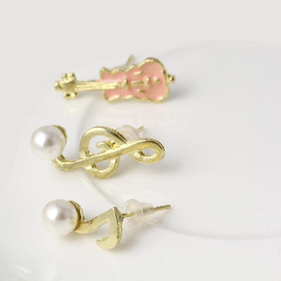 Music Violin Treble Clef Quaver Earrings - Artistic Pod Review