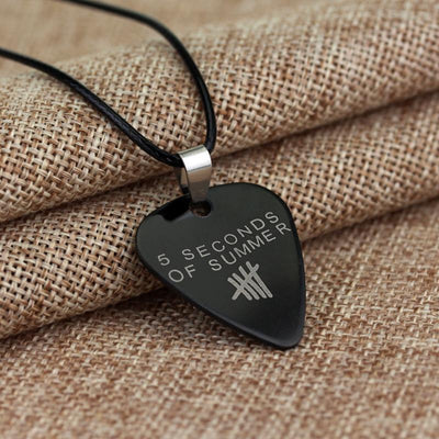 products elfen large personalised silver pick guitar sterling hardd necklace